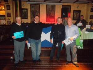 A scot wins on Burns night....Peter Beatt (right)