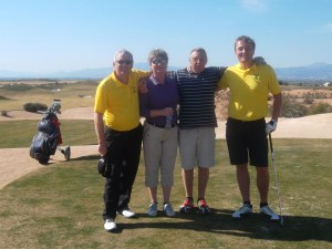 John McFall, Astrid Spieler, John Pitman & Gert Willumsen were not near the prizes but still enjoyed their day.....