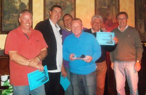 Phil, Neil Les & Barry with captain Kevin (centre) & vice captain Paul (right).........