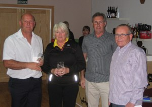 runners up..... but dave and roisin both won nearest the pins.....