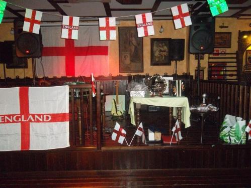 the stage arrangement.......