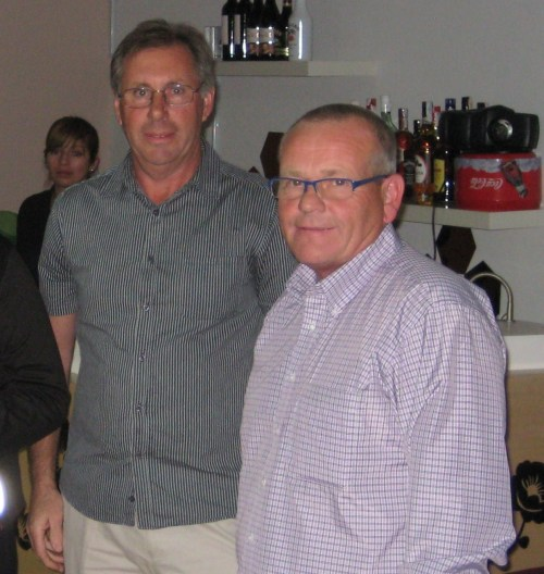 New captain Paul and president Kevin.......