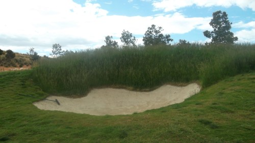 not a fair edging to a bunker......