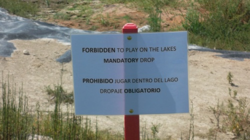 please do not go in the lakes...............