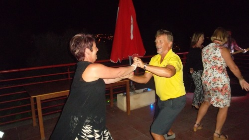 Pauline was brave risking a dance with Jan......