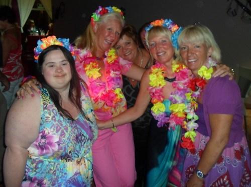 the girls made an effort!............