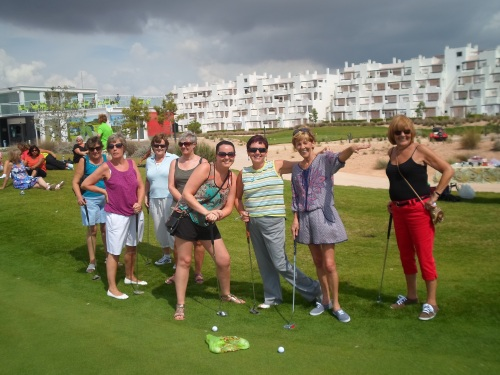 the non-golfers get instruction on the rules.......