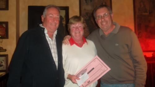Dorothy won the ladies prize............
