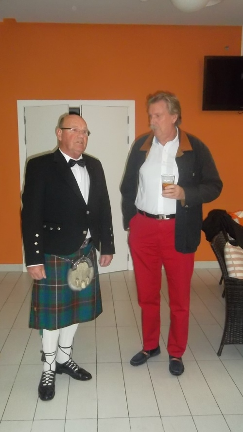 Sandy is the one with the kilt and the dagger down his sock................