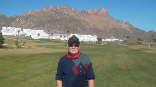 Peter may be over 70 but still plays a mean game of golf..........