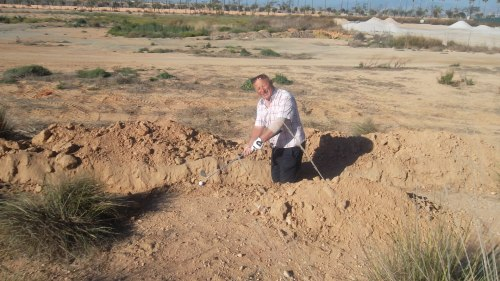 It's in the news that trenches for training troops in the first world war have just been discovered - Peter has just found another!..........