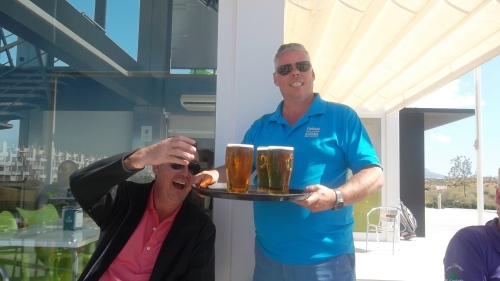 I was asked to include this as a rare photo of Phil getting the drinks in!..............