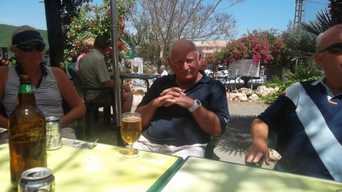Alan won at Mar Menor on his last outing before returning home......
