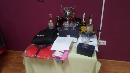 the prize table............