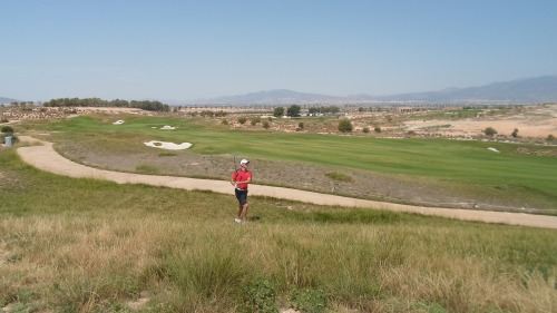 Rich playing his 3rd to the ninth from close to the first fairway.............