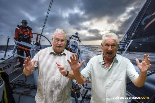 me and Barry Answer on the high seas...........it's easy, look no hands........