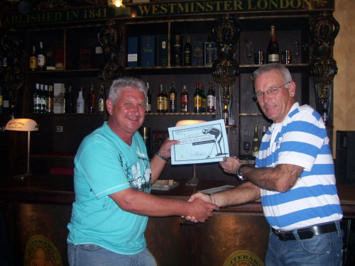 Barry Barker wins the first competition.......only 12 players