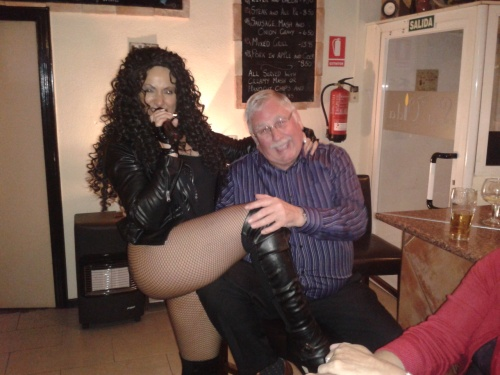 Barry and his glamorous assistant.........