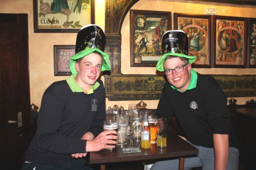 2 young german golfers joined in........they must have wondered what was happening..........
