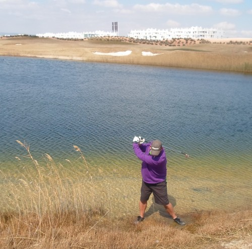and finally, maybe an overswing on 18 with feet submerged?........