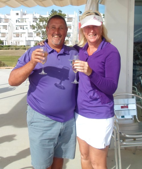 just missed out but Les and Alicia can still celebrate..........
