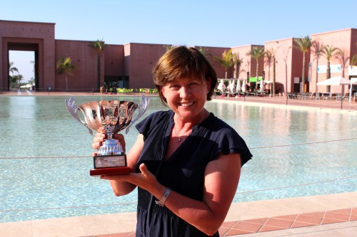 This photo of Annie Kittlesen will be displayed with the strokeplay trophy for the next 12 months.....