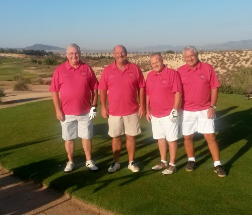 the sponsored team on the 1st tee..................