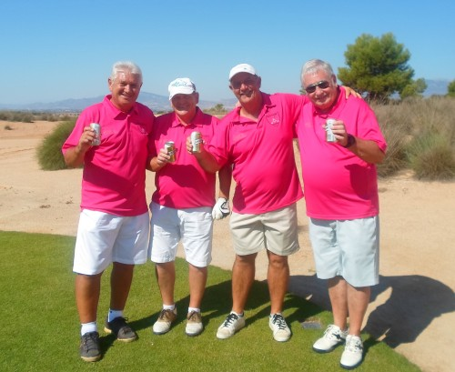sponsored shirts from Flagship Shopfitters, and drinks courtesy of Denise on tee no 12...............