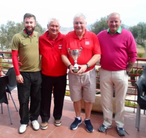 the winners - Daniel Don, Barry Barker, Barry Answer, Steve Bell......................